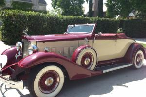 1934 Packard Super 8 Convertible - Dwight Bond Recreation Rare Classic Resto Rod