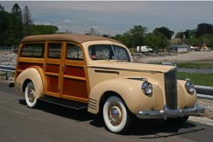 "1941 PACKARD 110 DELUX WOODY STATION WAGON ""RESTORED, STUNNING!!!"""