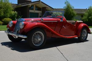 1954 MG TF Body Off Frame Restoration Matching Numbers 9600 Miles CA Vehicle