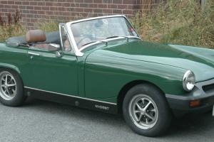 1977 MG Midget 1500 in Brooklands Green near original condition. MoT August 2014