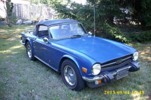1974 Triumph TR6 Base Convertible 2-Door 2.5L Original interior, Royal Blue Photo