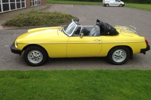 1981 MGB Roadster (Registered 1987)  Photo