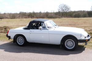 1982 MG B ROADSTER WHITE, VERY SOLID ORIGINAL CAR