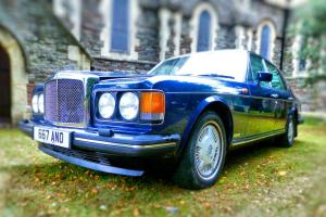1989 STUNNING MIDNIGHT BLUE BENTLEY EIGHT FSH MOT CREAM LEATHER  Photo