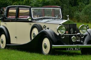 1937 Rolls Royce 25/30 Salmons Tickford Cabriolet.  Photo