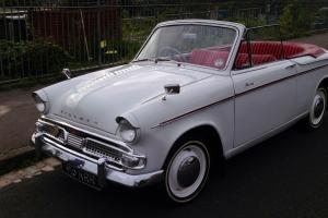 Hillman Minx Convertible Series 111b 1961 in White with Red Soft Top Lovely Car