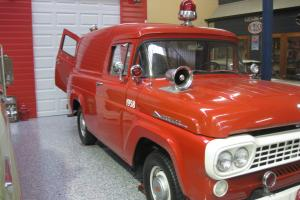 1958 Ford F100 Fire Truck Panel VAN Fire Engine Rescue Vehicle Very Rare in in Brisbane, QLD  Photo