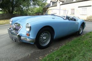 1961 MGA Roadster Deluxe MkII in Iris Blue  Photo