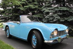 1964 TRIUMPH TR4, BEAUTIFUL FRAME OFF RESTORATION, MILD RACE-PREP ENGINE