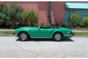 1975 TRIUMPH TR6, LOW MILEAGE SURVIVOR CAR, ORIGINAL PAINT, RARE JAVA GREEN !!! Photo