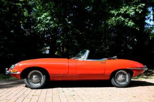 Restored 1963 Jaguar XKE Roadster, Signal Red