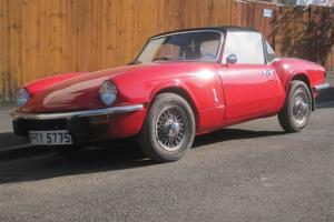 Original 1977 TRIUMPH SPITFIRE 1500 RED