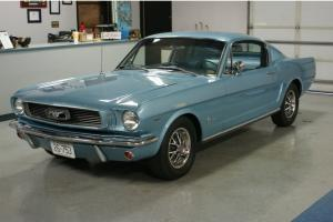 1966 Ford Mustang Fastback 289 V8 Absolutely Gorgeous Silver Blue 289 C Code A/C