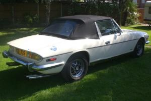TRIUMPH STAG WHITE 3.5 Rover Engine 5 speed uprated diff Tax excempt