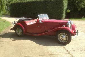 MG TD, Rebuilt XPAG engine, Ex competition T Type. Damask red with red interior