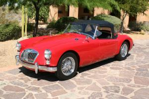 1962 MGA MKII Convertible Original Red/Black. Runs and drives very well!