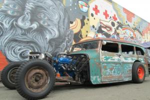 1958 Willys Rat Rod Wagon, Chopped and Channeled, highly executed Street Rod