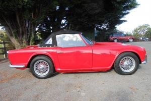 1963 Triumph TR4 - red, excellent condition