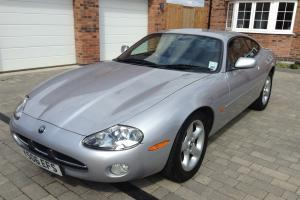 JAGUAR XK8 COUPE, AUTO,SILVER BLACK LEATHER FJSH LOW MILEAGE