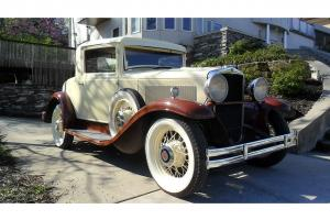 1931 HUPMOBILE RESTORED COUPE ORIGINAL MANUAL 3 SPEED RARE VINTAGE MODEL S