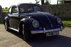 Classic VW Beetle 1500 1966/67 Presented in L41 Factory Black