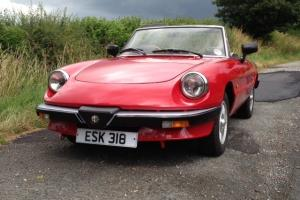 Alfa Spider S3 1600cc 1989 Right hand drive