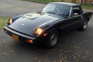 Restored Black Convertible Rare British 1974 Jensen-Healey 30K Original Miles