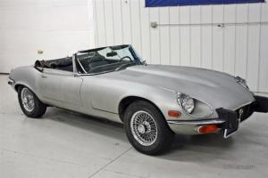 1974 Jaguar E-Type XKE V12 Convertible Roadster 34k Miles Original Car V 12