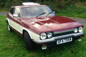 Scimitar GTE E ODVE SE6a, 4 speed/over drive, 3 Litre Essex 1980 burgundy/white