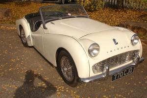 1958 TRIUMPH TR3 A WHITE  Photo