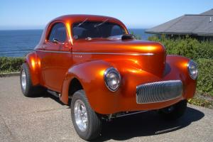 1941 Willys Gasser Coupe with 540 cid Big Block Chevy TCI Turbo 400 Gear Vendors