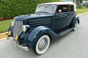 1936 FORD DELUXE SEDAN CONVERTIBLE 4 DOOR AMAZING RESTORATION 21 BOLT V8