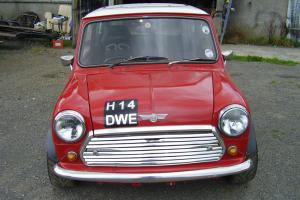 Classic Mini Cooper competion car.