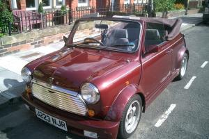 1991 ROVER MINI CONVERTIBLE RED