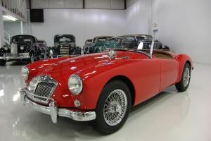 1957 MGA ROADSTER, 4-SPEED MANUAL, TRUE KNOCK-OFF CHROME WIRE WHEELS, RESTORED! Photo