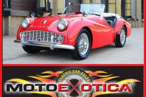 1958 TRIUMPH TR3A-OLDER BUT COMPLETE RESTORATION-NEW TOP-GREAT BRITISH MOTORCAR!