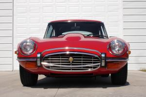 1973 Jaguar XKE E-Type Coupe Signal Red Black Leather Hot Rod V12 58,000 miles