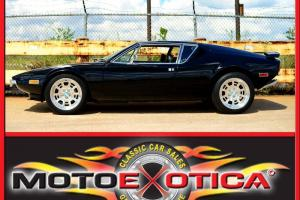 1972 DETOMASO PANTERA-BLACK ON BLACK!!!-FRESH PAINT-RECENTLY FULLY RESTORED!!!