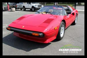 1982 FERRARI 308 GTSi ROSSO CORSA RED WITH TAN LEATHER - LOW MILES - EXCELLENT