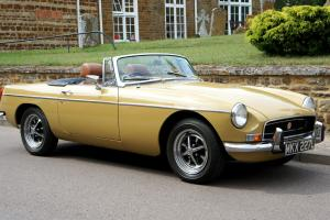 Very Original 1972 MGB Chrome Bumper Roadster Harvest Gold Tax Exempt Concourse  Photo