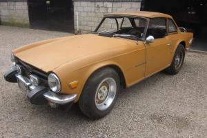 Triumph TR6 LHD Overdrive Car With Hardtop To Restore.
