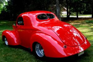 "1941 Coupe,Stunning PPG Viper Red/Tan,502ci,Turbo 400,9""w/31 Spline,PS,PDB,PWExc"