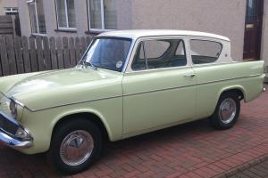 Beautiful 1961 Ford Anglia 105E 997cc Deluxe Saloon, Lime Green / Ermine White