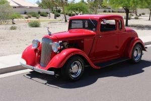 1933 PLYMOUTH COUPE high build HOT ROD with 350 engine and RUMBLE SEAT