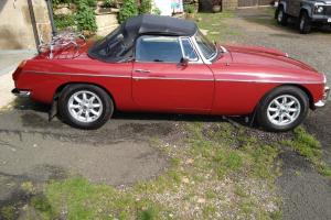 MGB Roadster In Carmine Red Excellent Condition