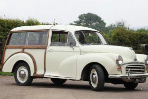 Morris Minor Traveller .old english white . Re con engin , great runner