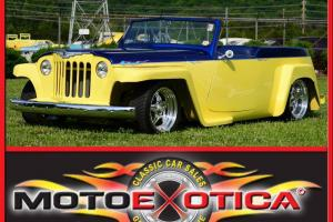 1948 WILLYS JEEPSTER ,PERFECT PAINT, SUICIDE DOORS, 4 WHEEL DISC  ,4 SPEED !!!!!