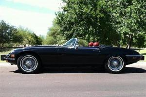 1974 JAGUAR XKE ROADSTER BLACK RED SHOWSTOPPER RESTORED RARE CLASSIC EXCELLENT!