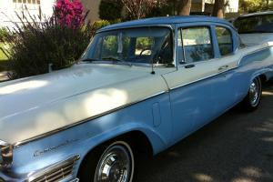 Studebaker Commander rare 2door Coupe two tone blue and white
