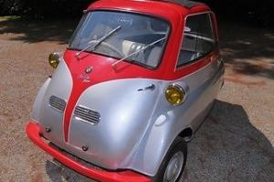 1957 Isetta Bubble Car Silver and Red! Restored Collector Car Micro Car Manual